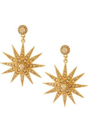 Oscar de la Renta Earrings - Classic Swarovski Crystal Goldtone Star Drop Earrings