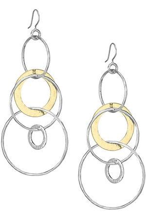 Ippolita Classico Jumbo Chimera Two-Tone Hammered Jet Set Earrings