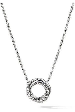 adidas Necklaces - Crossover Mini Pendant Necklace with Diamonds