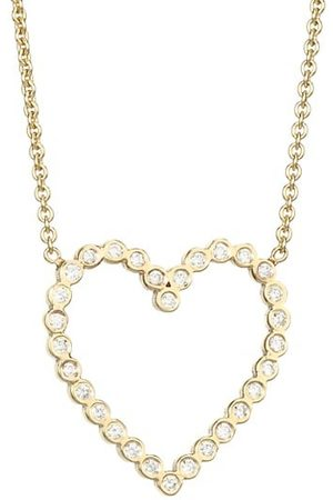 Zoe Chicco 14K Gold & Diamond Heart Pendant Necklace