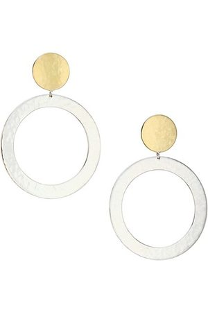 Ippolita Classico Large Chimera Two-Tone Open Snowman Earrings