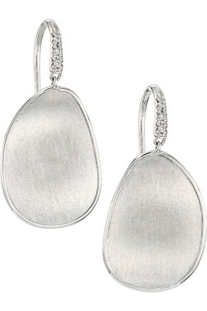 Marco Bicego Men Earrings - Lunaria 18K White Gold & Diamond Dangle Drop Earrings