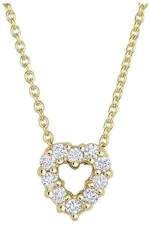 Roberto Coin Necklaces - Tiny Treasures 18K Yellow & Diamond Heart Pendant Necklace