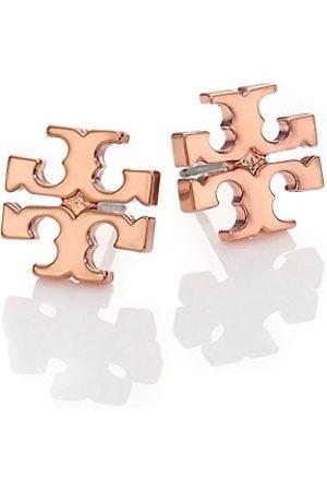 Tory Burch Earrings - Rose Goldtone Logo Stud Earrings