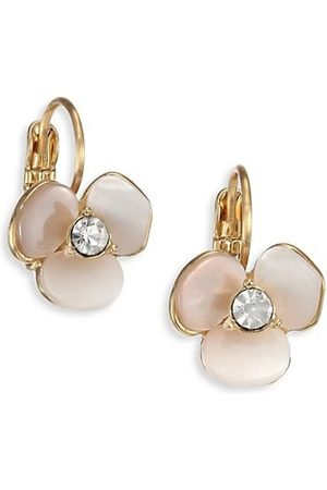Kate Spade Disco Pansy Mother-Of-Pearl Leverback Earrings