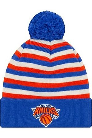 New Era Men Gloves - EK Cashmere New York Knicks Striped Knit Beanie