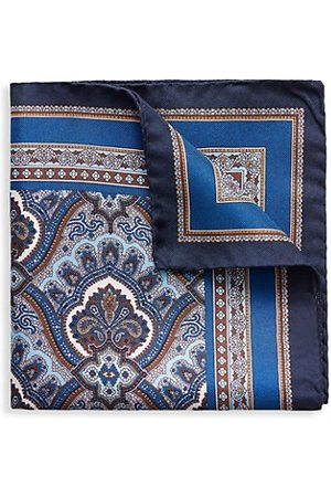 Eton Men Handkerchiefs - Paisley Silk Pocket Square