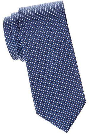 Eton Men Neckties - Micro-Dot Silk Tie