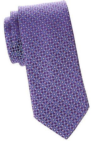Eton Men Neckties - Floral Medallion Silk Tie