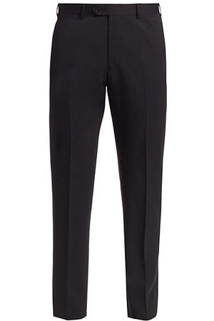 Armani Men Formal Trousers - Solid Wool Trousers