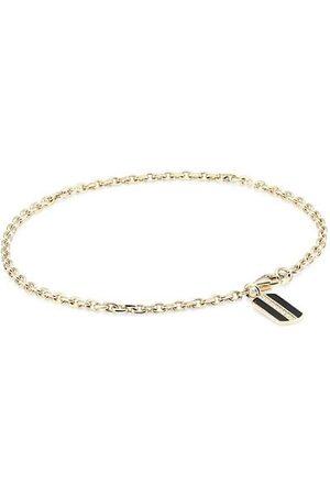 Sydney Evan Men Necklaces - 14K Yellow & Pavé Diamond Rectangle Pendant Bracelet