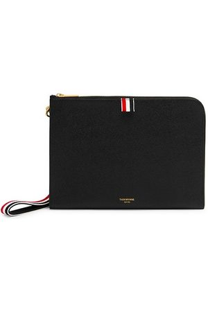 Thom Browne Men Belts - Small Pebbled Leather Wristlet