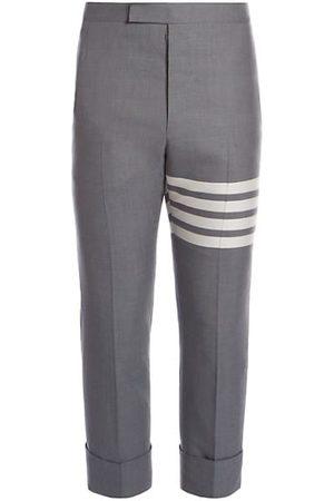 Thom Browne Stripe Backstrap Wool Trousers