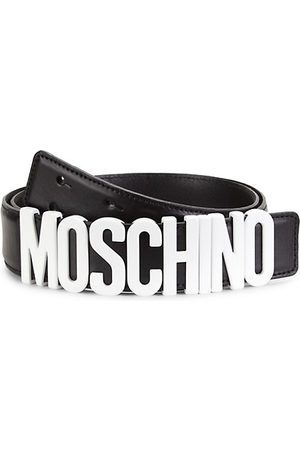 Moschino Matte Logo Leather Belt