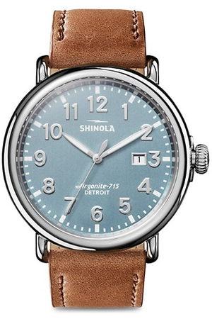 SHINOLA Men Watches - The Runwell Three Hand Date Stainless Steel & Leather-Strap Watch
