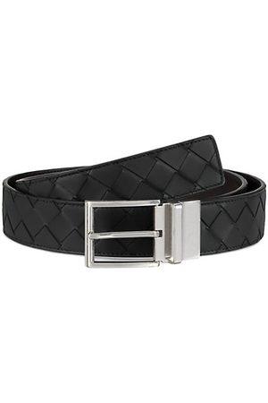 Bottega Veneta Reversible Interlock Leather Belt