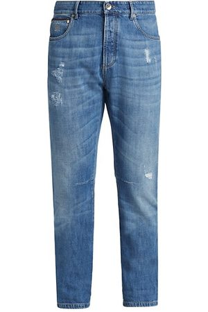 Brunello Cucinelli Leisure-Fit Distressed Jeans