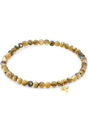 Sydney Evan Love 18 14K Yellow , Diamond & Abalone Bead Bracelet