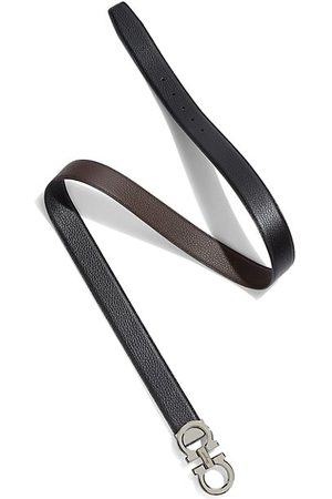 Salvatore Ferragamo Men Belts - Adjustable & Reversible Double Gancini Buckle Belt