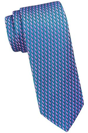 Charvet Neat Contrast Color Brush Silk Tie