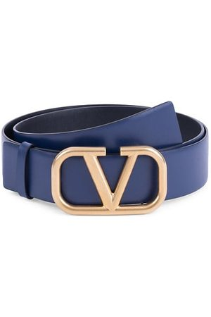 VALENTINO Garavani V Logo Leather Belt