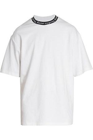 Acne Studios Men Short Sleeve - Extorr Ribbed Logo T-Shirt