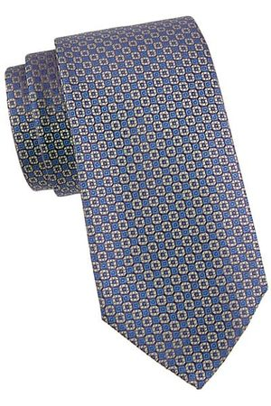 Charvet Men Neckties - Geometric-Print Silk Tie