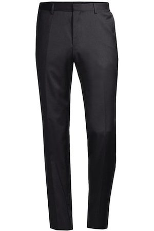HUGO BOSS Men Formal Trousers - Genesis Slim-Fit Stretch Wool Trousers