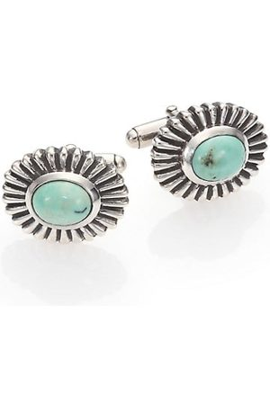 King Baby Studio Men Neckties - Turquoise Concho Cuff Links