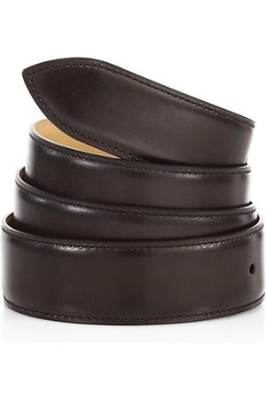 CORTHAY Ebene Patina Leather Belt