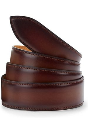 CORTHAY Men Belts - Carmel Brulee Patina Leather Belt