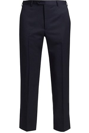 Emporio Armani Men Formal Trousers - Navy Wool Trousers