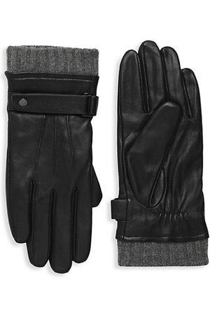 Mackage Men Gloves - Reeve Virgin Wool-Lined Leather Gloves