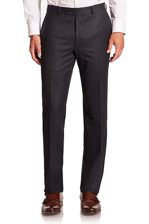 Saks Fifth Avenue Men Formal Trousers - COLLECTION Wool Flat-Front Pants