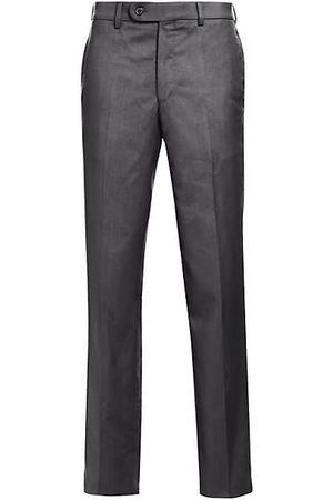 Saks Fifth Avenue Men Formal Trousers - K-Body Wool Dress Pants
