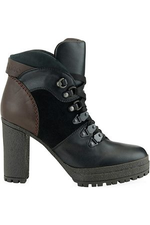 See by Chloé Outdoor Shoes - Leather Stack Heel Hiking Boots