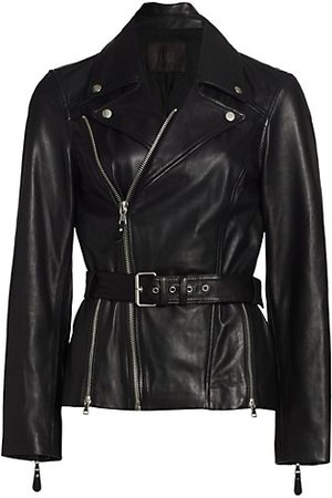 Paige Women Leather Jackets - Dita Belted Leather Jacket