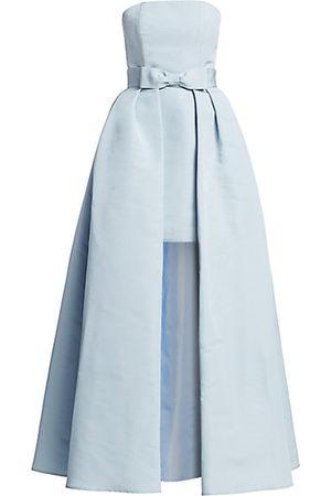 Alexia Maria Silk Faille Strapless Mini Dress with Convertible Bow Skirt