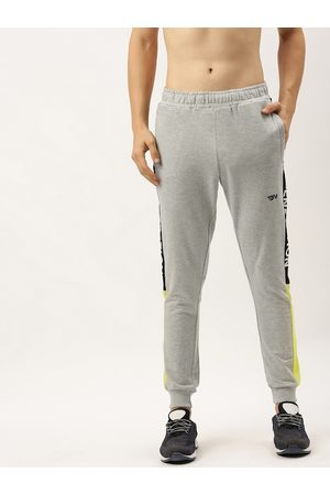 Flying Machine Men Grey Solid Joggers