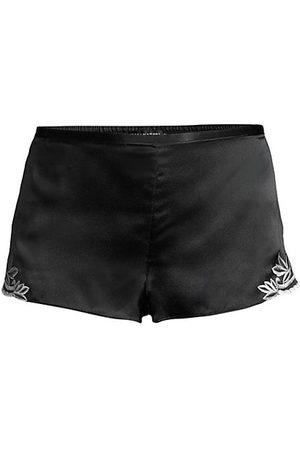 Natori Lace-Trimmed Silk Shorts