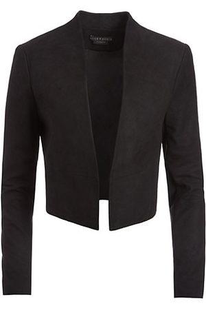 ALICE+OLIVIA Women Leather Jackets - Harvey Suede Combo Jacket