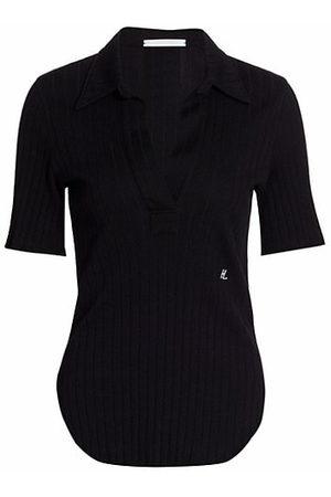 Helmut Lang Women Short Sleeve - Skinny Polo T-Shirt