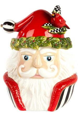 McKenzie Night Cap Santa Cookie Jar