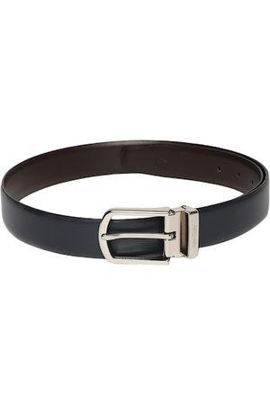 Allen Solly Men Black & Brown Reversible Leather Belt
