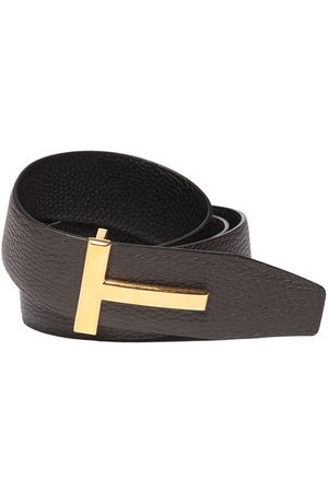 Tom Ford 40mm Reversible T Leather Belt