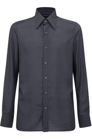Tom Ford Geometric Print Lyocell Shirt