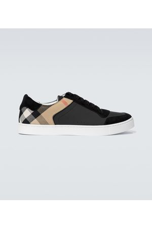 Burberry Reeth checked leather sneakers