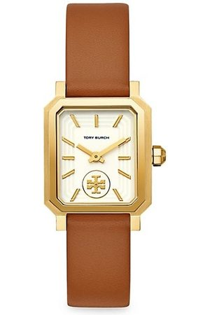 Tory Burch Robinson Goldtone Stainless Steel & Leather Strap Watch