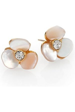 Kate Spade Disco Pansy Mother-of-Pearl Mini Stud Earrings