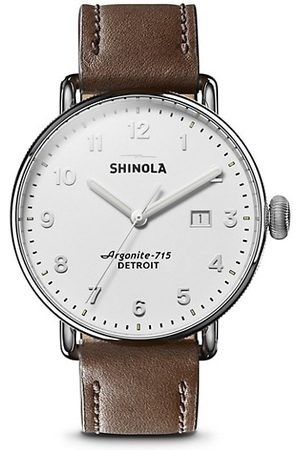 SHINOLA Men Watches - The Canfield Stainlesss Steel & Leather-Strap Watch